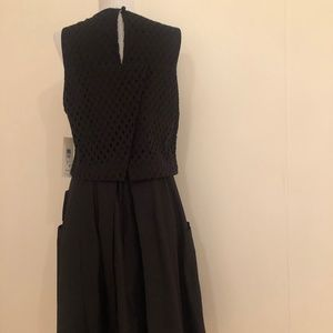 Eliza J Dresses - Eliza J Black Overlay  Midi Dress